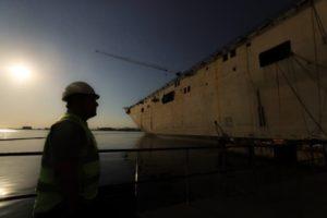 Türkiye'nin 'amiral gemisi'nde son durum görüntülendi
